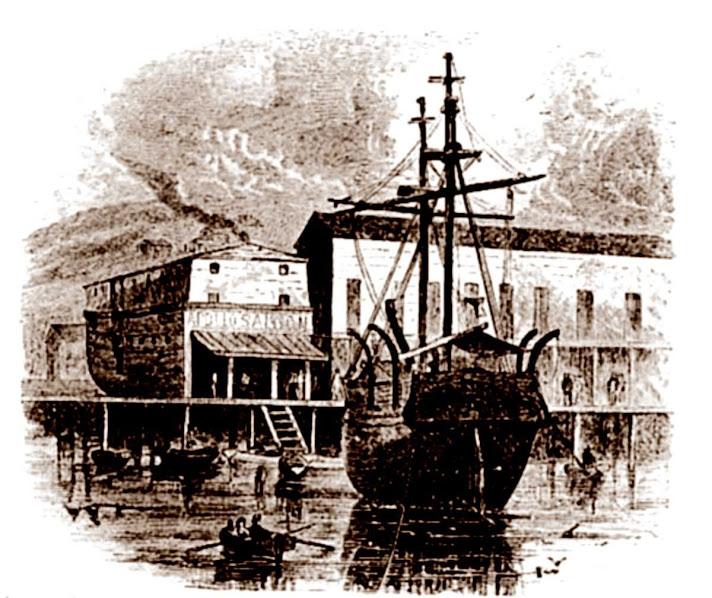 28 SF Docks 1850s