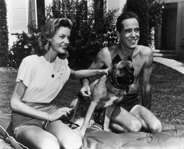 Bogart and Bacall and dogs