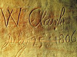 Clark mark at Pompey's Pillar
