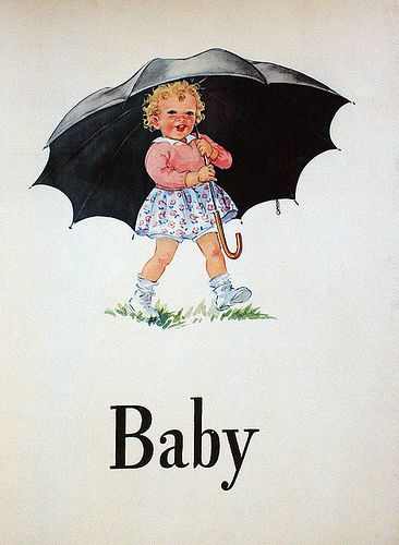 Baby illustration from Dick and Jane
