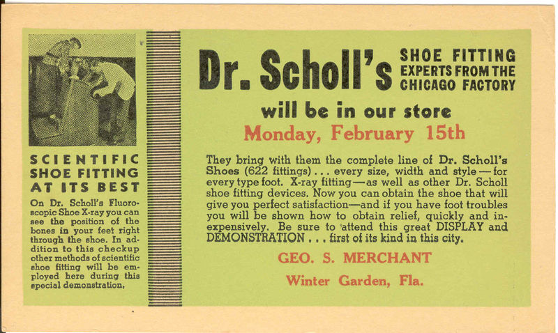 Dr. Scholl shoe fitting
