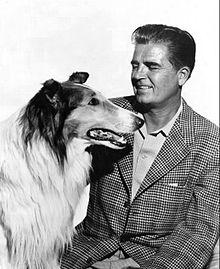 Lassie and Rudd Weatherwax, 1955