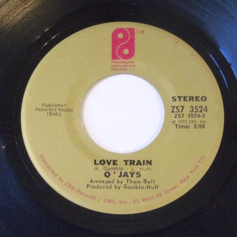"""""""Love Train"""" 45 Record"""
