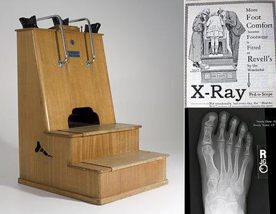 X-ray shoe-fitting machine