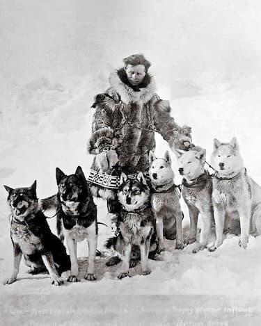 Leonhard Seppala with sled dog team