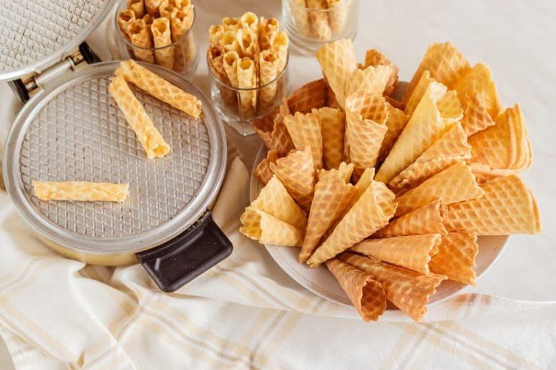 waffle ice cream cones; istock